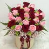 pink & Red rose in a Box